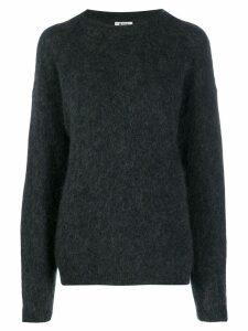 Acne Studios fluffy effect jumper - Grey