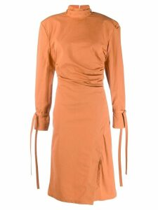 Acne Studios twisted pleats dress - Orange