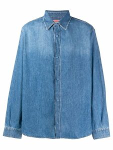 Acne Studios quilted denim over shirt - Blue