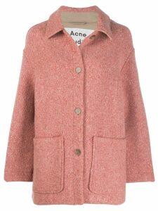 Acne Studios cocoon oversized coat - Pink