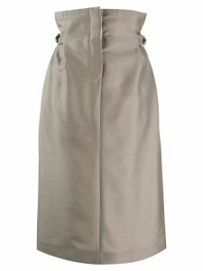 Acne Studios paper-bag skirt - NEUTRALS