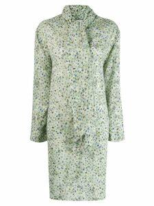 Acne Studios fluid scarf dress - Green