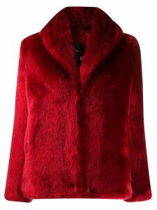 La Seine & Moi faux fur coat - Red