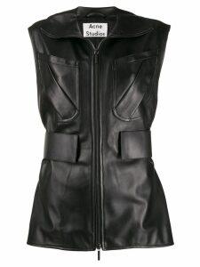 Acne Studios zip-up waistcoat - Black
