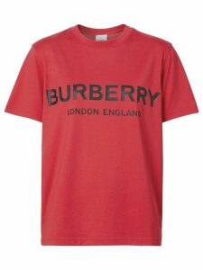 Burberry Logo Print Cotton T-shirt - Red