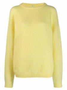 Acne Studios fluffy sweater - Yellow