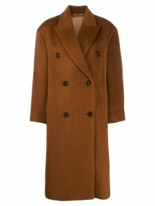 Acne Studios boxy oversized coat - Brown