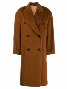 Acne Studios oversized fit coat - Brown
