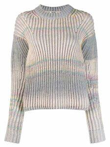 Acne Studios gradient knit sweater - Grey