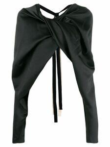 colville backless blouse - Black