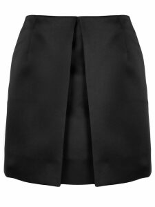 Mm6 Maison Margiela front pleat fitted skirt - Black