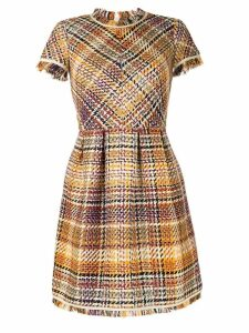 Paule Ka shortsleeve tweed dress - Multicolour