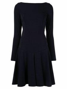 Paule Ka pleated flare dress - Blue