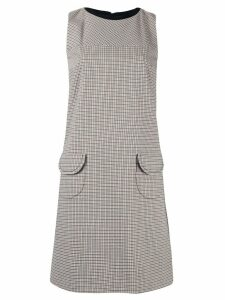 Paule Ka sleeveless check print shift dress - Multicolour