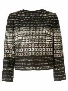 Paule Ka cropped tweed jacket - Black
