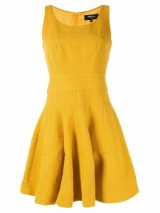 Paule Ka sleeveless flared dress - Yellow