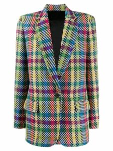 Attico colour-block houndstooth blazer - Red