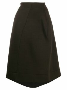 Jil Sander asymmetric flared skirt - Brown