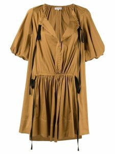 Lee Mathews Elsie short tunic dress - Brown