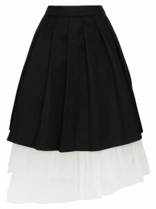 Shushu/Tong layered midi skirt - Black