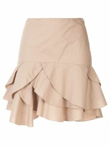 Paule Ka ruffled hem skirt - Brown