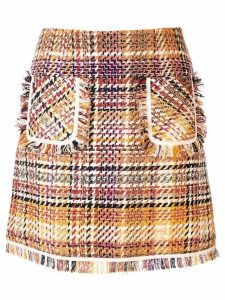 Paule Ka Prince of Wales check a-line skirt - Multicolour