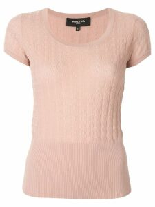 Paule Ka short-sleeve fitted T-shirt - Pink