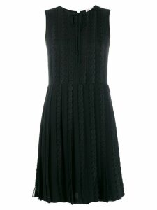 Red Valentino laced sleeveless dress - Black