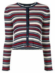 Paule Ka striped jumper - White