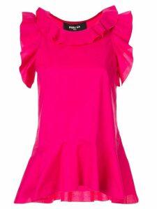 Paule Ka blouse with ruffle detail - Purple