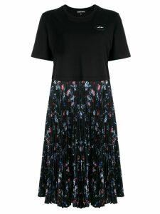 Markus Lupfer T-shirt pleated dress - Black