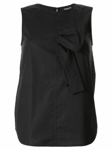 Paule Ka sleeveless half bow blouse - Black