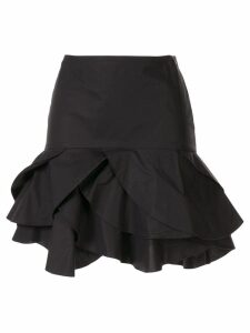 Paule Ka ruffle fitted skirt - Black