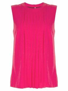 Markus Lupfer pleated sleeveless blouse - Pink