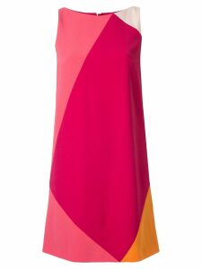 Paule Ka geometric block shift dress - Pink