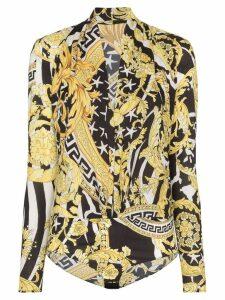 Versace Savage Barocco print bodysuit - Black
