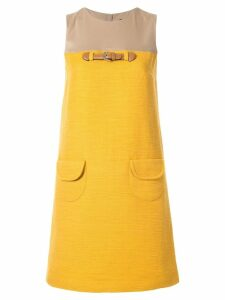 Paule Ka contrast shift dress - Yellow