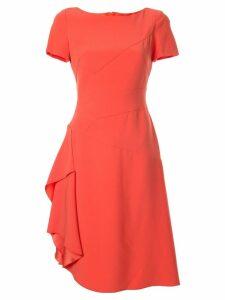 Paule Ka asymmetric flared dress - Orange