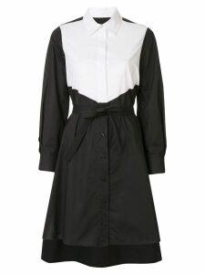 Paule Ka contrast shirt dress - Black