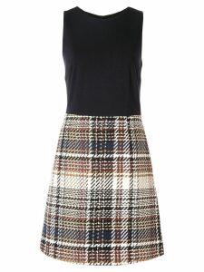 Paule Ka contrast fitted dress - Black