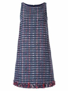 Paule Ka tweed sleeveless shift dress - Blue
