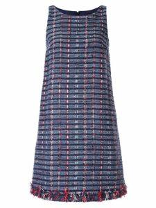 Paule Ka tweed sleeveless shift dress - Blue