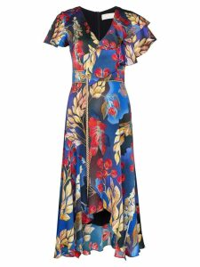 Peter Pilotto floral print midi dress - Blue
