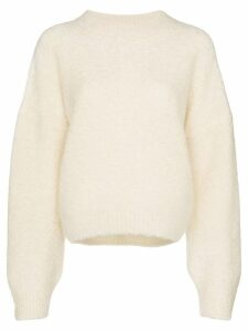 Le Kasha balloon-sleeve cashmere jumper - Neutrals