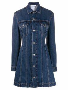 Helmut Lang denim shirt dress - Blue