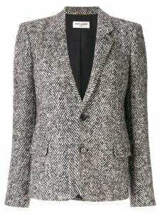 Saint Laurent herringbone tweed jacket - Grey