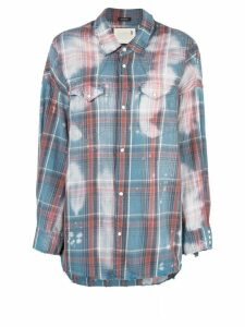 R13 oversized plaid shirt - Blue