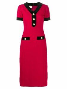 Gucci buttoned midi dress - Red