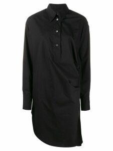 Mm6 Maison Margiela asymmetric shirt dress - Black