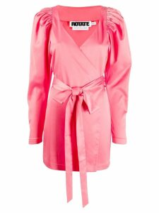 Rotate front ribbon dress - Pink